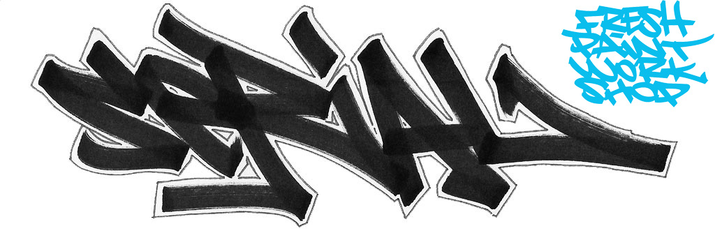 tag outline graffiti