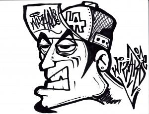 Character graffiti personajes