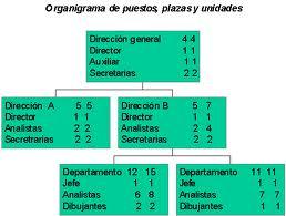 organigramas de puestos, plazas y unidades