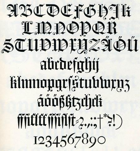 letras goticas Libraria
